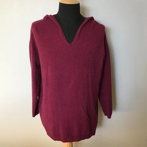 FLORENCIA Cranberry Hooded Sweater